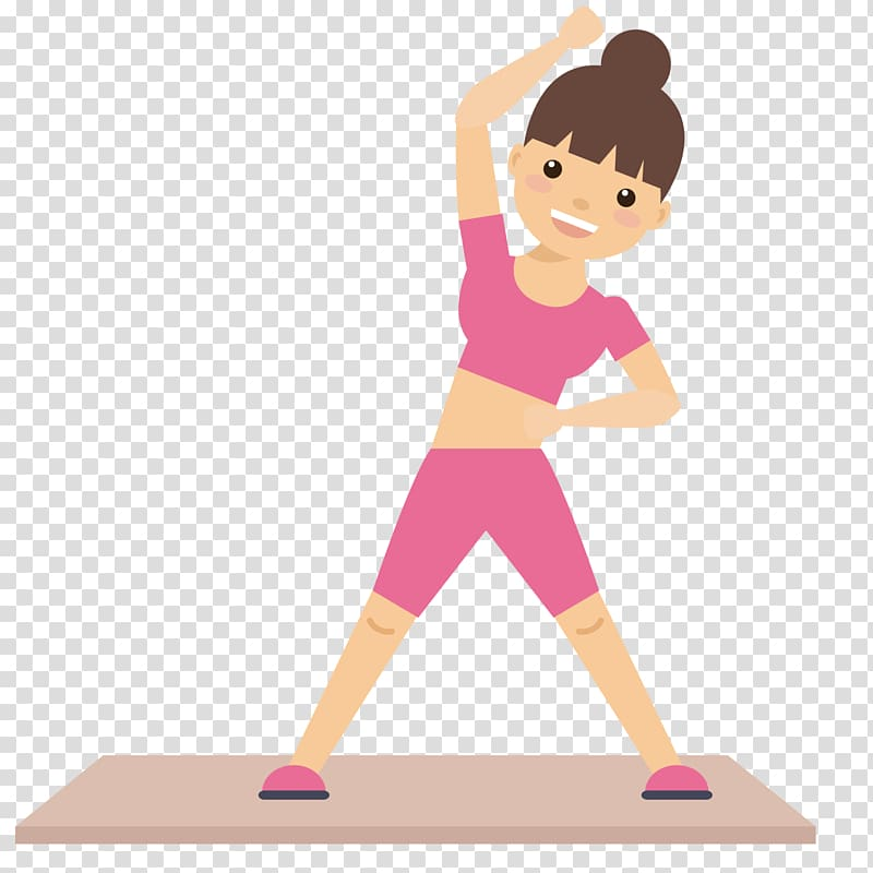 Woman exercising clipart graphic Woman stretching illustration, Physical fitness Physical ... graphic