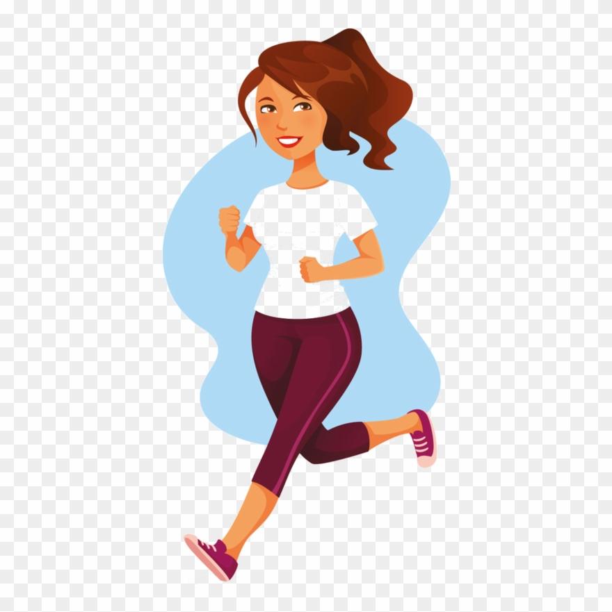Woman exercising clipart clip art transparent Fitness Clipart Fit Man - Woman Running Png Illustration ... clip art transparent