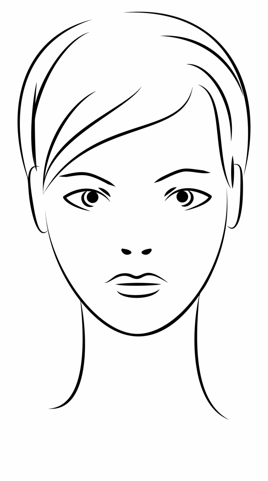 Woman face clipart jpg transparent library Clip Art Stock Female Line Art Big Image Png - Icon Woman ... jpg transparent library