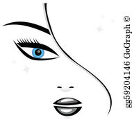Woman face clipart svg freeuse download Woman Face Clip Art - Royalty Free - GoGraph svg freeuse download
