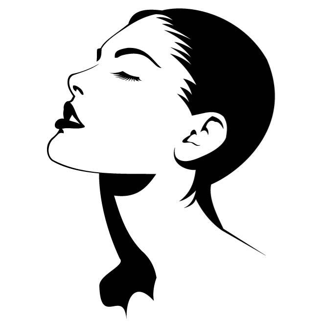 Woman face outline clipart image freeuse library Female Face Outline | Free download best Female Face Outline ... image freeuse library