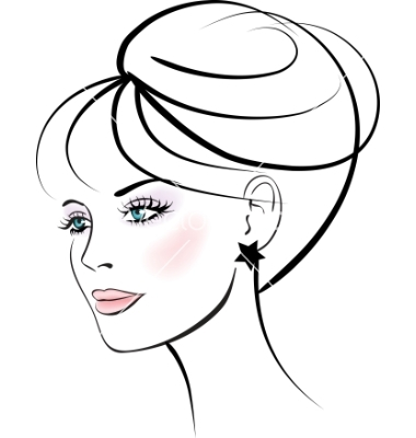 Woman face vector clipart graphic royalty free download Woman Face Free Images At Clker.com Vector Clip Art - Free ... graphic royalty free download