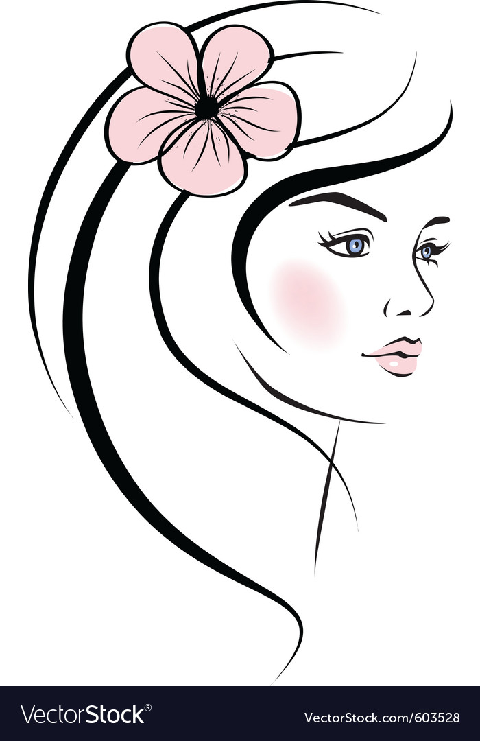 Woman face vector clipart royalty free download Beauty woman face royalty free download