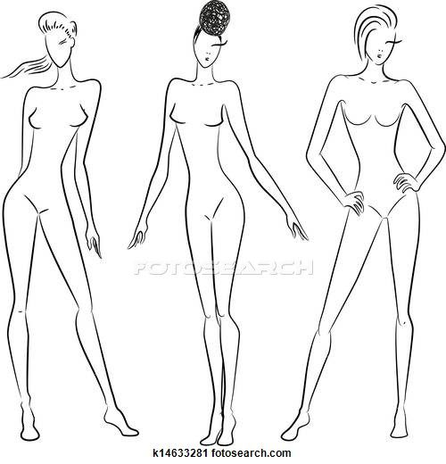 Woman figure drawing clipart png royalty free library The sketch of women in different poses Clipart | Draw ... png royalty free library
