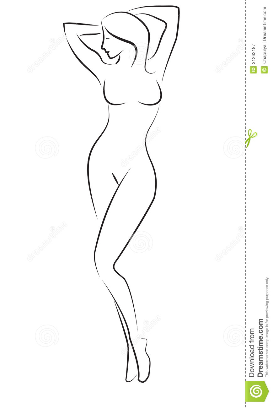 Woman figure drawing clipart graphic freeuse download Woman Full Body Sketch at PaintingValley.com | Explore ... graphic freeuse download