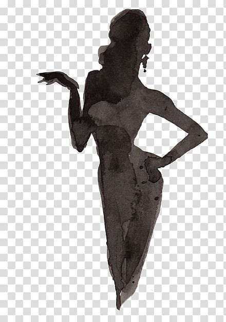 Woman figure drawing clipart banner transparent Woman figure black sketch, Drawing Silhouette Woman, Woman ... banner transparent