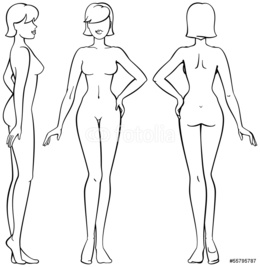 Woman figure drawing clipart picture black and white Female Body Shape Sketch at PaintingValley.com | Explore ... picture black and white