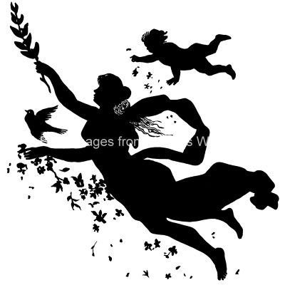 Woman flying silhouette clipart graphic free stock Silhouette Clip Art 3 - Woman Flying graphic free stock