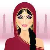 Woman from india clipart vector library Clip Art of Young Woman in India u24388532 - Search Clipart ... vector library