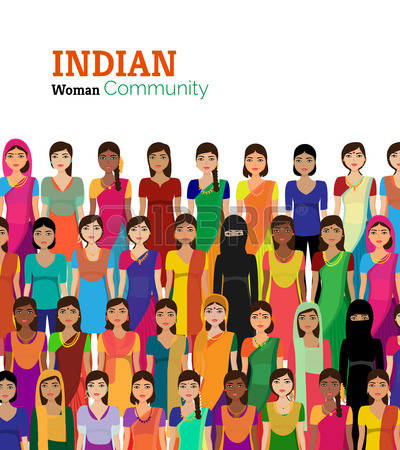 Woman from india clipart banner transparent stock 284 Indian Woman In Saree Stock Vector Illustration And Royalty ... banner transparent stock