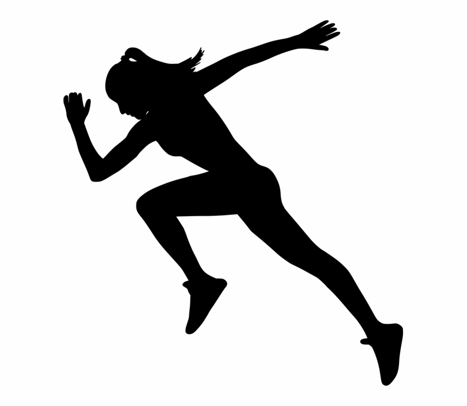 Woman gym clipart clip art black and white Silhouette Fit Run Gym Runner Workout Woman - Fit Woman ... clip art black and white