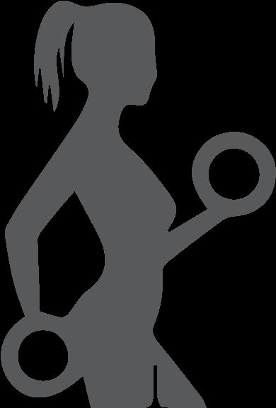 Woman gym clipart library Lean \'n Mean - Women Gym Icon Clipart - Full Size Clipart ... library