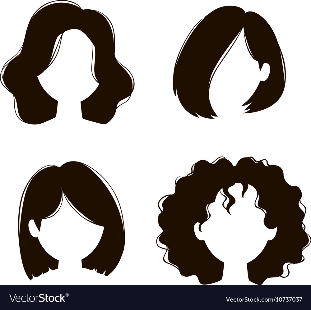 Wedding Hair Style Black Vector Art: Library Of Woman Hair Silhouette Png Library Download Png
