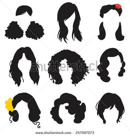Woman hair silhouette clipart clip black and white download Styles hair silhouettes, woman hairstyle   Cameo in 2019 ... clip black and white download