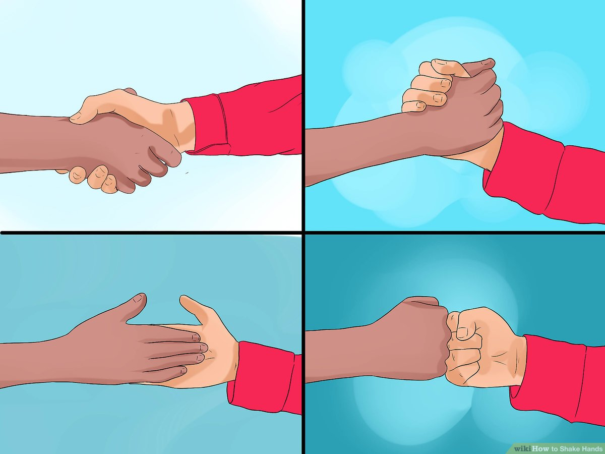 Woman hand grabbing clipart graphic black and white stock 3 Ways to Shake Hands - wikiHow graphic black and white stock