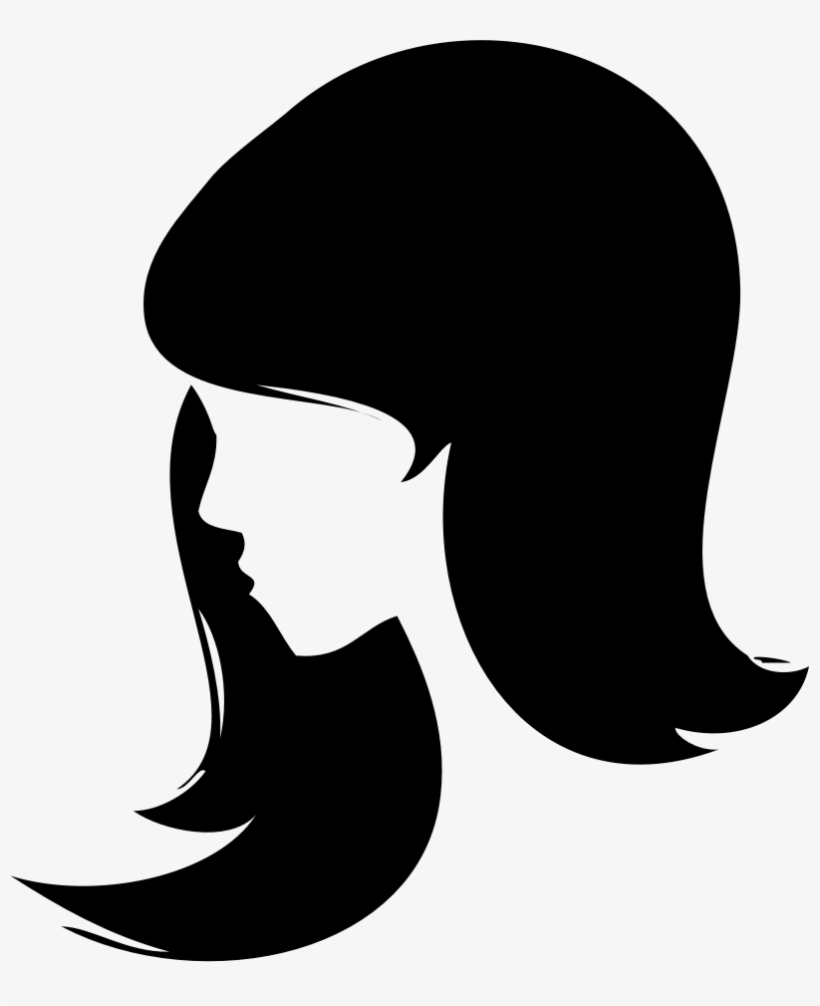 Woman head clipart png black and white Woman Face Silhouette Png Banner Library Library - Woman ... black and white