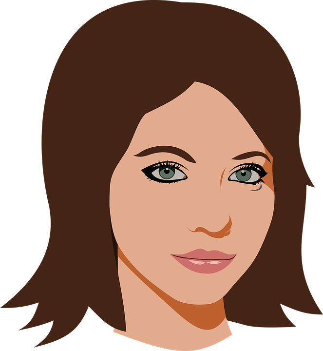Woman head clipart png