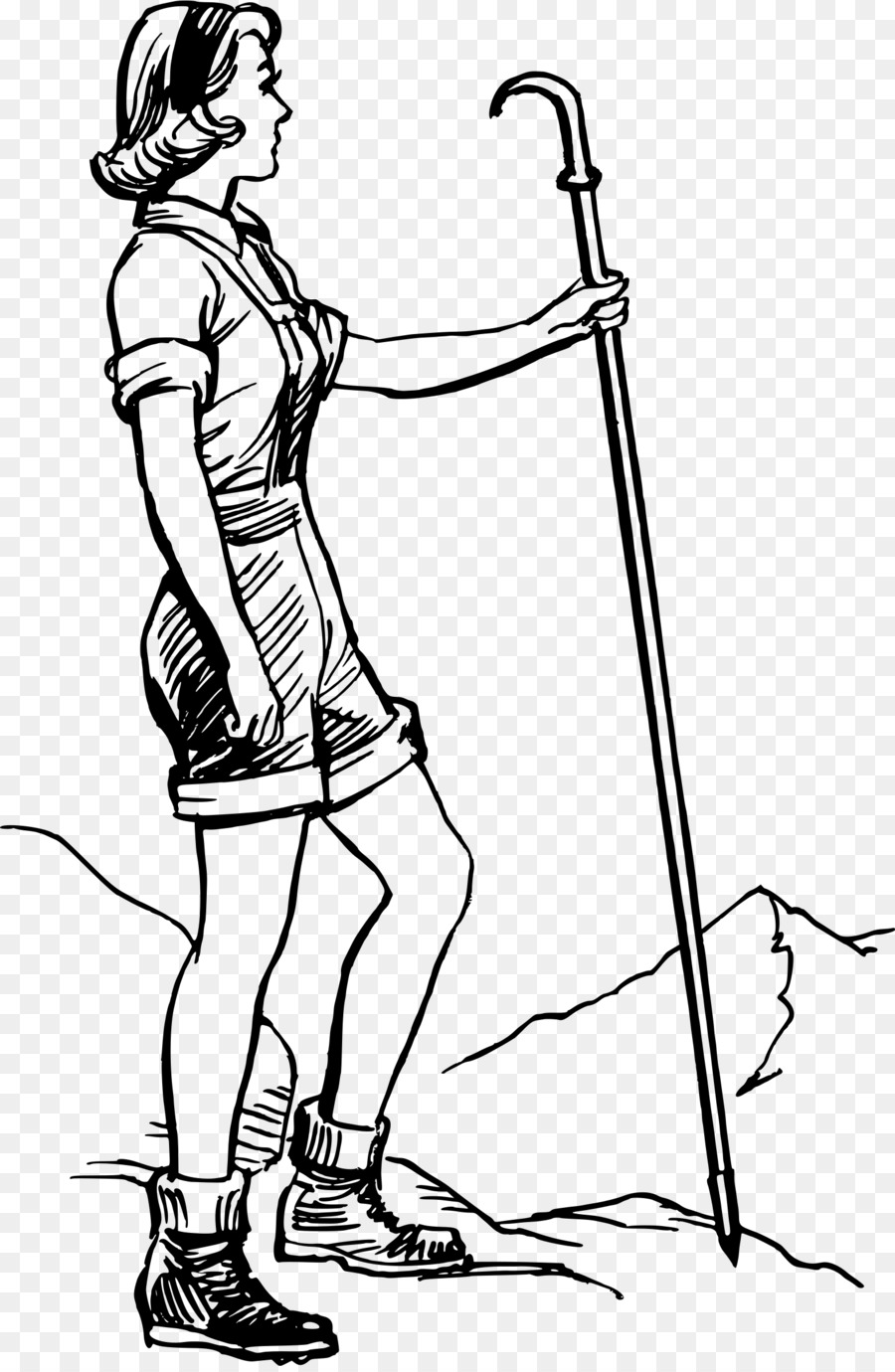 Woman hiking clipart clipart royalty free download Camping Cartoon png download - 1572*2400 - Free Transparent ... clipart royalty free download