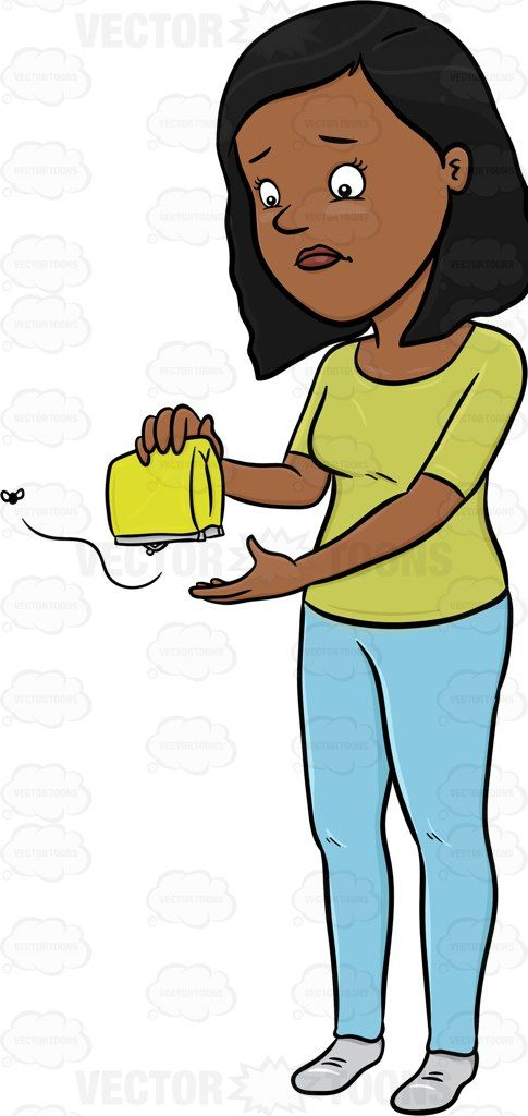 Woman holding a wallet clipart picture free download A Sad Woman Checking Her Wallet For Money To No Avail ... picture free download