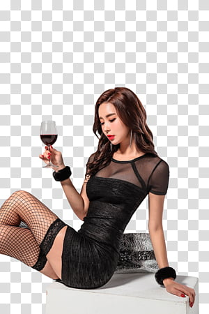 Woman holding a wine glass clipart picture black and white stock PARK DA HYUN, woman holding long-stem wine glass transparent ... picture black and white stock