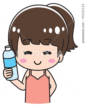 Woman holding water bottle clipart image royalty free download A woman holding water - Stock Illustration [45141123] - PIXTA image royalty free download
