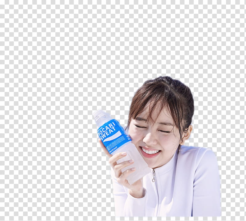 Woman holding water bottle clipart banner transparent stock Kim So Hyun, woman holding Pocari Sweat bottle transparent ... banner transparent stock
