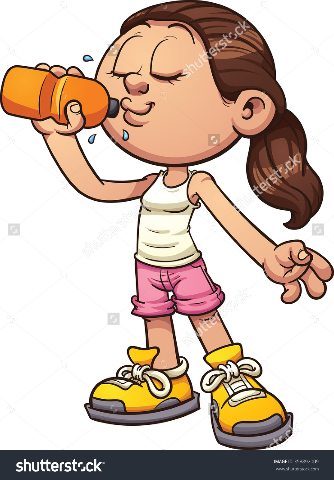 Woman holding water bottle clipart png library download Drinking Water Clipart | Free download best Drinking Water ... png library download
