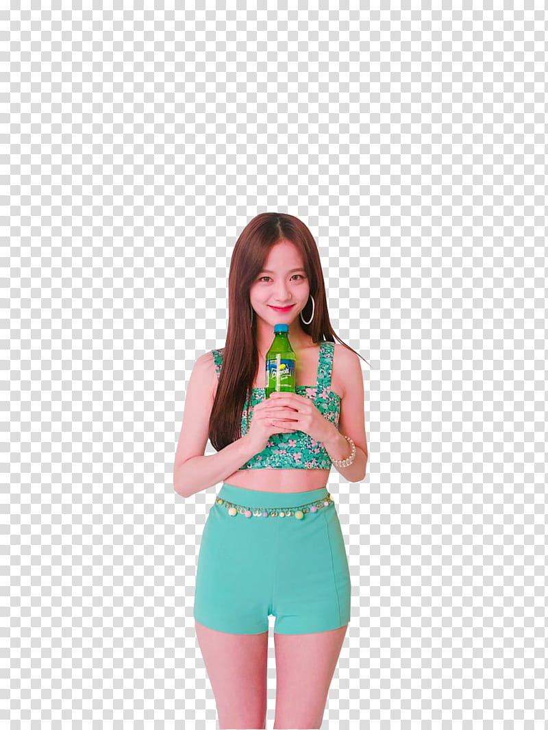 Woman holding water bottle clipart vector black and white library JISOO BLACKPINK , woman holding green bottle transparent ... vector black and white library
