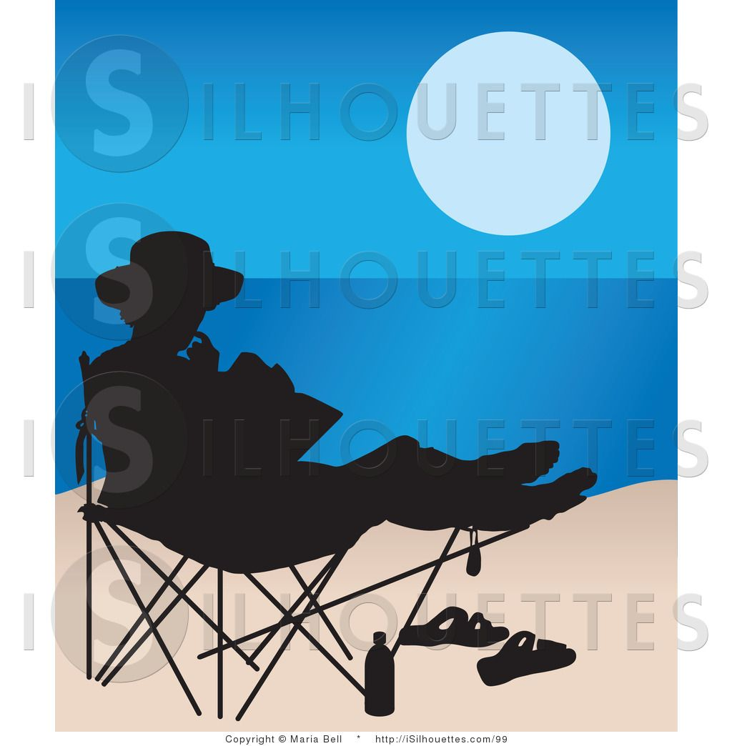 Woman in beach chair clipart banner freeuse stock reading chairs   Silhouette Clipart of a Woman Reading in a ... banner freeuse stock