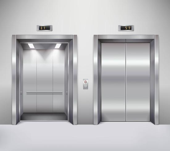 Woman in elevator clipart picture Elevator door illustration - Download Free Vectors, Clipart ... picture