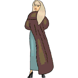 Woman in fur coat clipart graphic black and white library Woman in Fur Coat clipart, cliparts of Woman in Fur Coat ... graphic black and white library