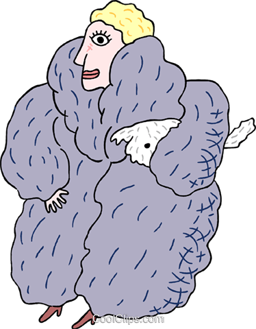Woman in fur coat clipart jpg library stock woman in fur coat Royalty Free Vector Clip Art illustration ... jpg library stock