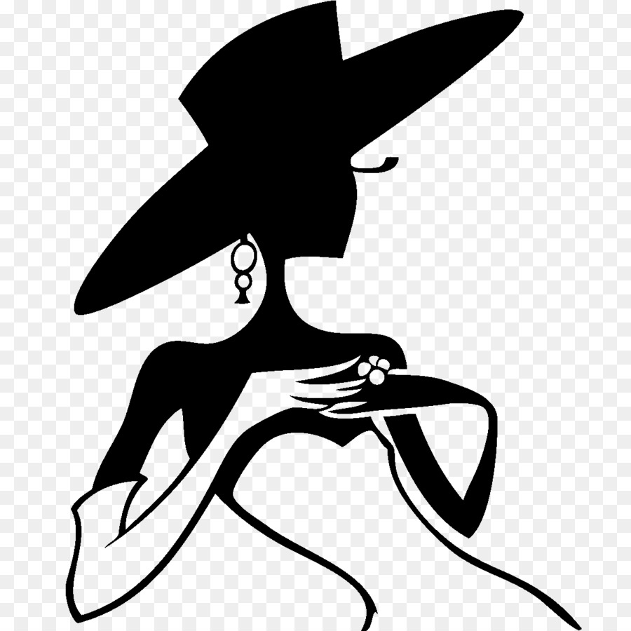 Woman in hat clipart svg royalty free download Bird Line Drawing clipart - Silhouette, Hat, Drawing ... svg royalty free download