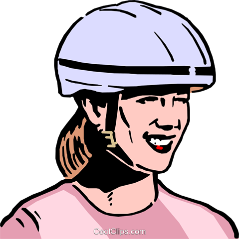 Woman in helmet clipart clip black and white library Woman wearing safety helmet Royalty Free Vector Clip Art ... clip black and white library