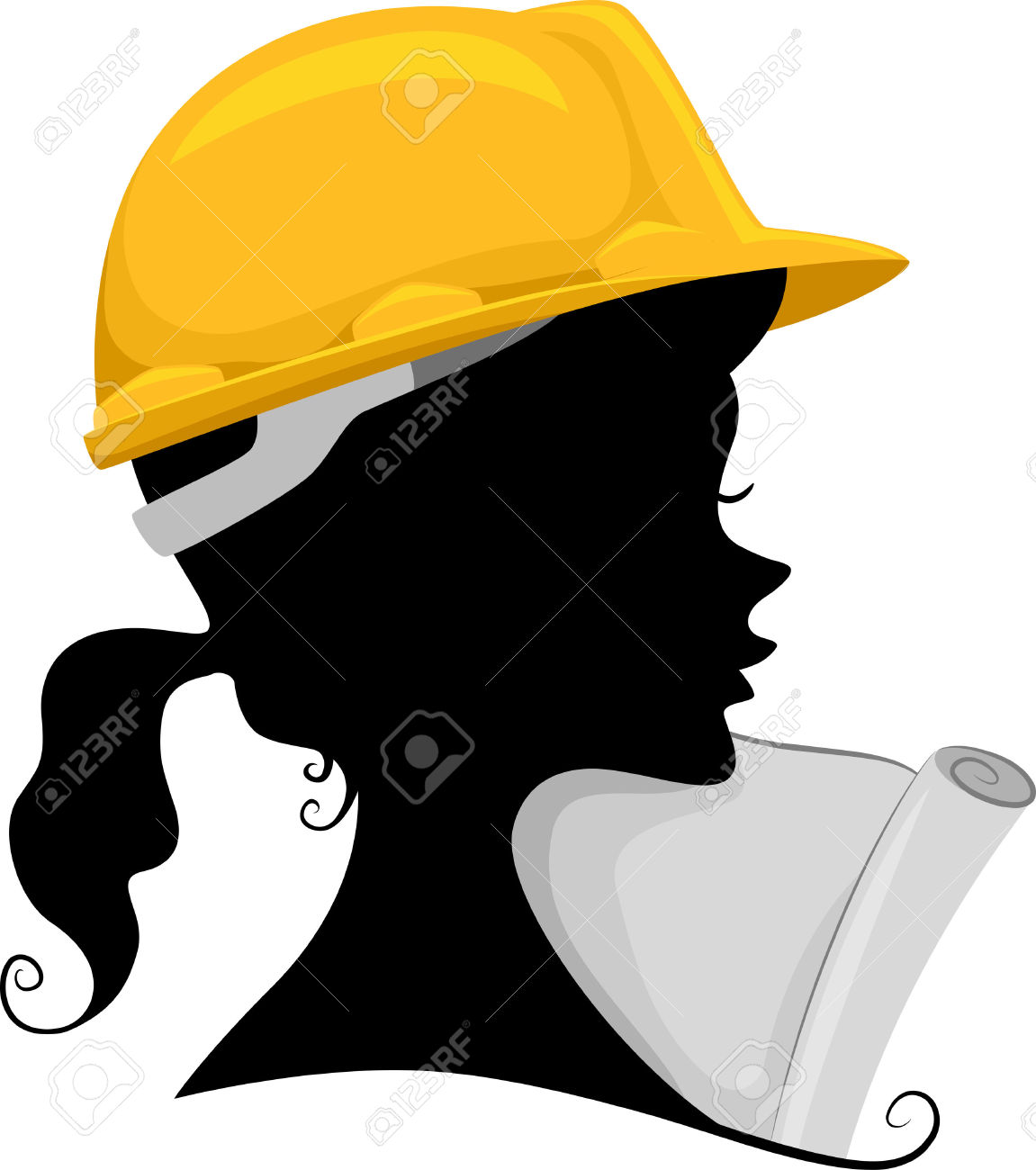 Woman in helmet clipart royalty free stock Female Engineer Clipart   Free download best Female Engineer ... royalty free stock