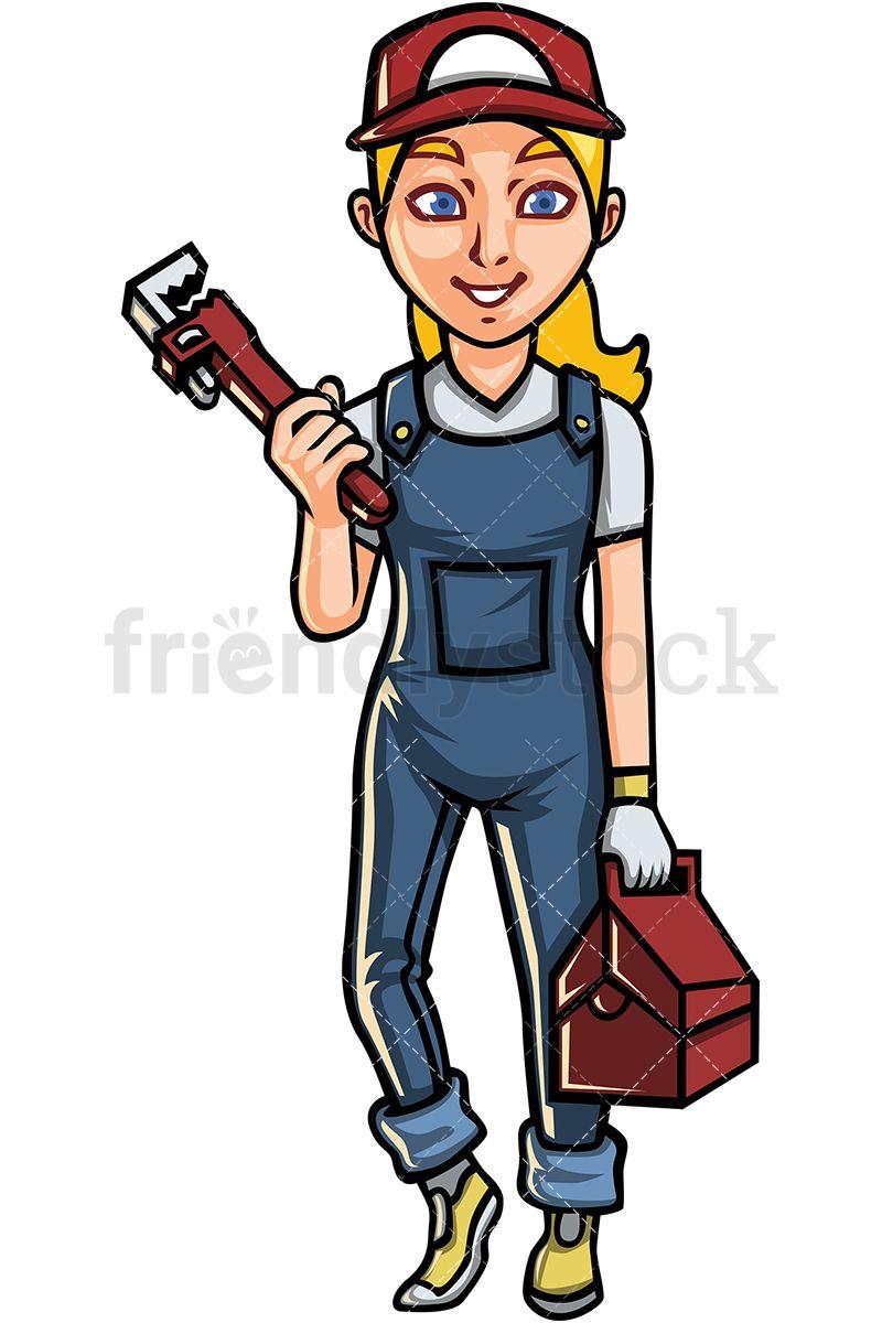 Woman in helmet clipart graphic Female Plumber   Clip Arts   Vector clipart, Free vector ... graphic