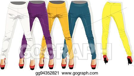 Woman in leggings clipart stock Vector Art - Woman leggings vector isolated. EPS clipart ... stock