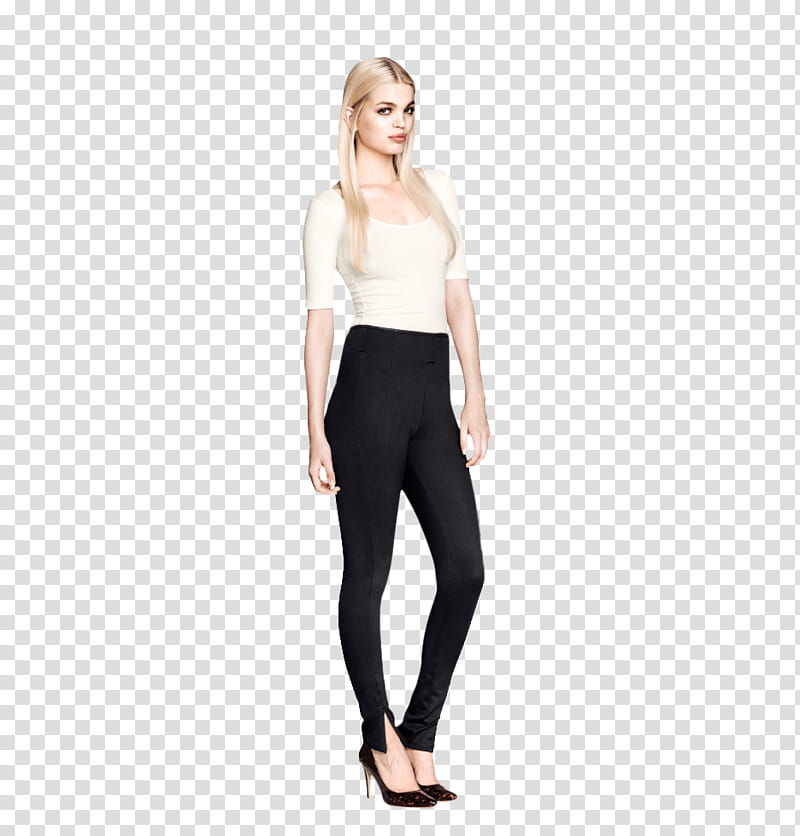 Woman in leggings clipart clip art freeuse library Daphne Groeneveld , standing woman wearing white elbow ... clip art freeuse library