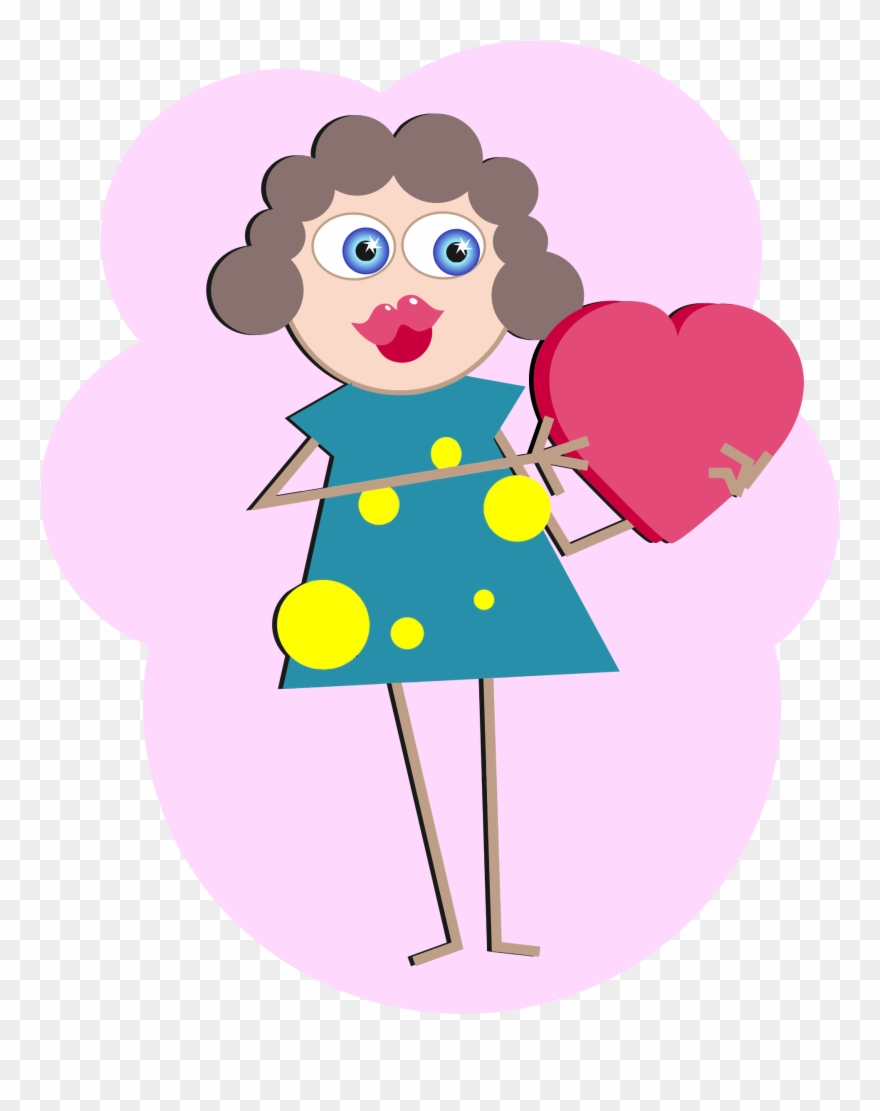Woman in love clipart graphic black and white stock Big Image - Woman In Love Cartoon Clipart (#462564) - PinClipart graphic black and white stock