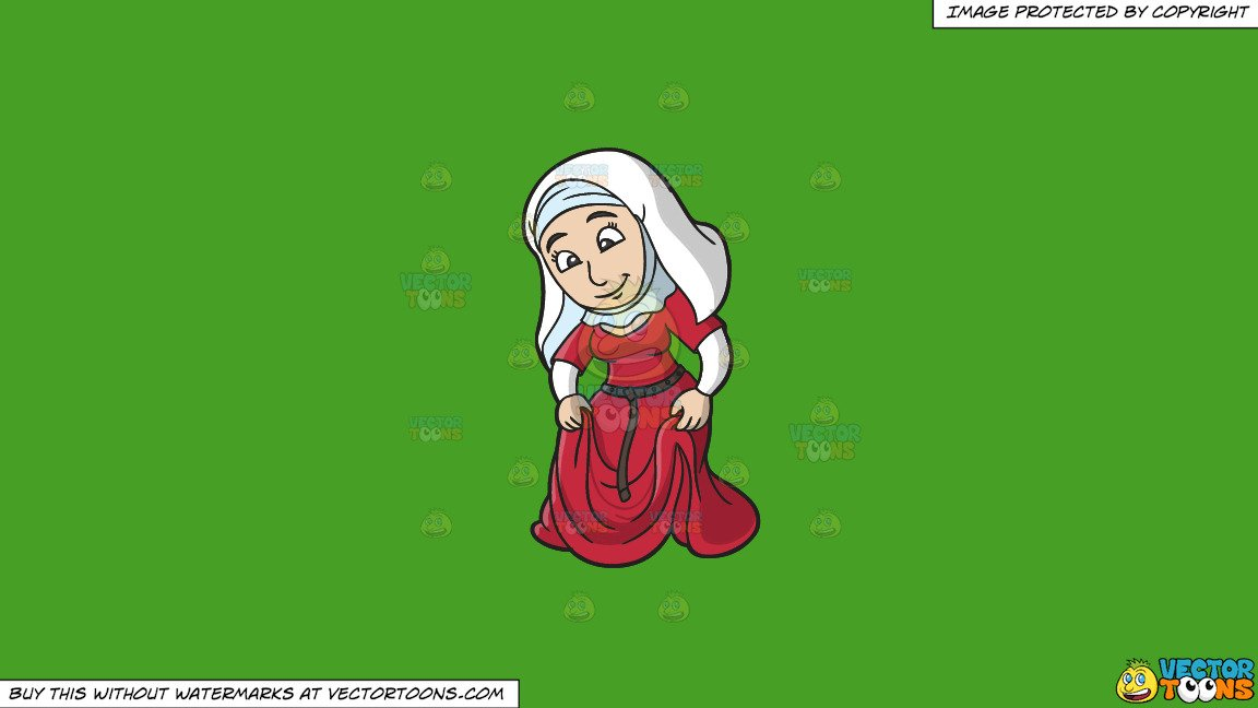Woman in modest skirt clipart clipart library stock Clipart: A Modest Medieval Woman on a Solid Kelly Green 47A025 Background clipart library stock