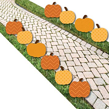 Woman in pumpkin patch clipart png freeuse stock Pumpkin Patch - Pumpkin Lawn Decoration Signs - Outdoor Fall or  Thanksgiving Yard Decorations -... png freeuse stock