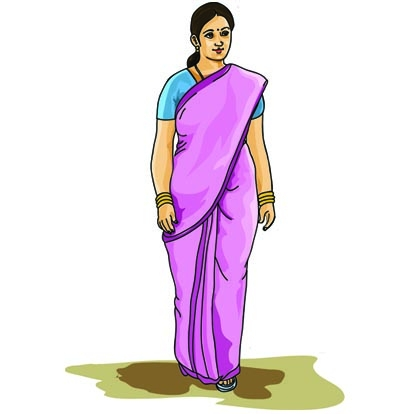 Woman in saree clipart graphic royalty free library Clipartindia   Quality Vector Images At Lowest Price ... graphic royalty free library