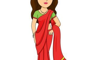Woman in saree clipart image download Indian woman in saree traditional costume » Clipart Portal image download
