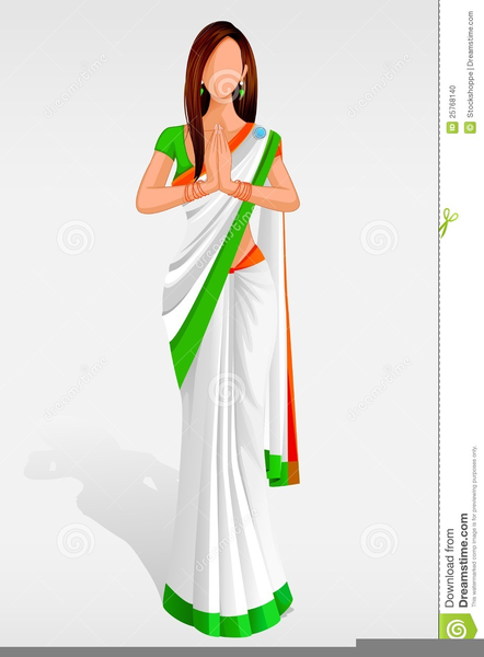 Woman in saree clipart image library download Woman In Saree Clipart   Free Images at Clker.com - vector ... image library download