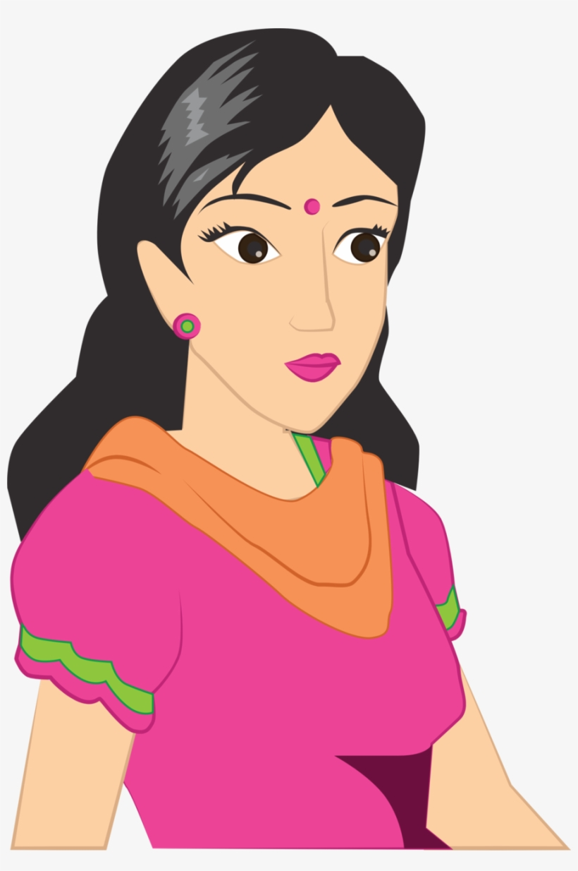 Woman in saree clipart picture royalty free download Cartoon Women In Saree Png Clipart Woman Cartoon Clip ... picture royalty free download