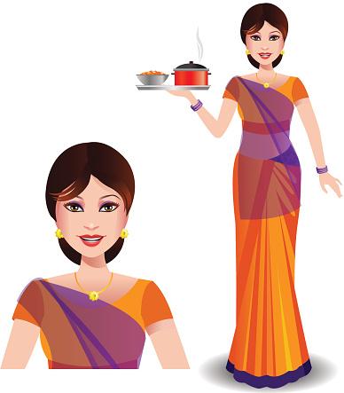 Woman in saree clipart vector transparent download Free Indian Saree Cliparts, Download Free Clip Art, Free ... vector transparent download