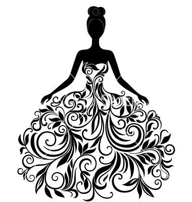 Woman in white robe clipart clipart free stock Silhouette of young woman in dress vector. Wonder if I could ... clipart free stock