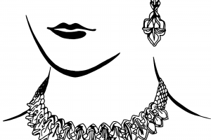 Woman jewelry clipart