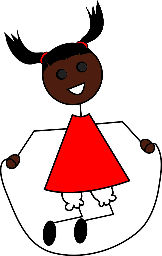 Woman jump rope clipart black picture royalty free download Clip Art Illustration of a Cartoon Little Black Girl Jumpi ... picture royalty free download