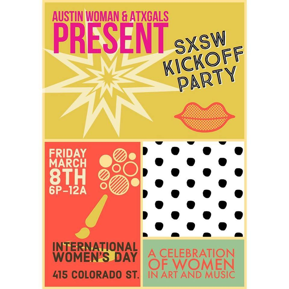 Woman kickoff clipart clip royalty free download SXSW Kickoff Party / International Women\'s Day clip royalty free download
